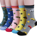 2015 spring & autumn kids socks girl socks cotton car Cartoon images children socks for boys 1-10 year 5 pair /1 lot