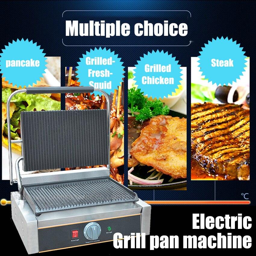 1 PC commercial en acier inoxydable simple plaque électrique gril/gril poêle/haute qualité gril machine 110 V/220 V