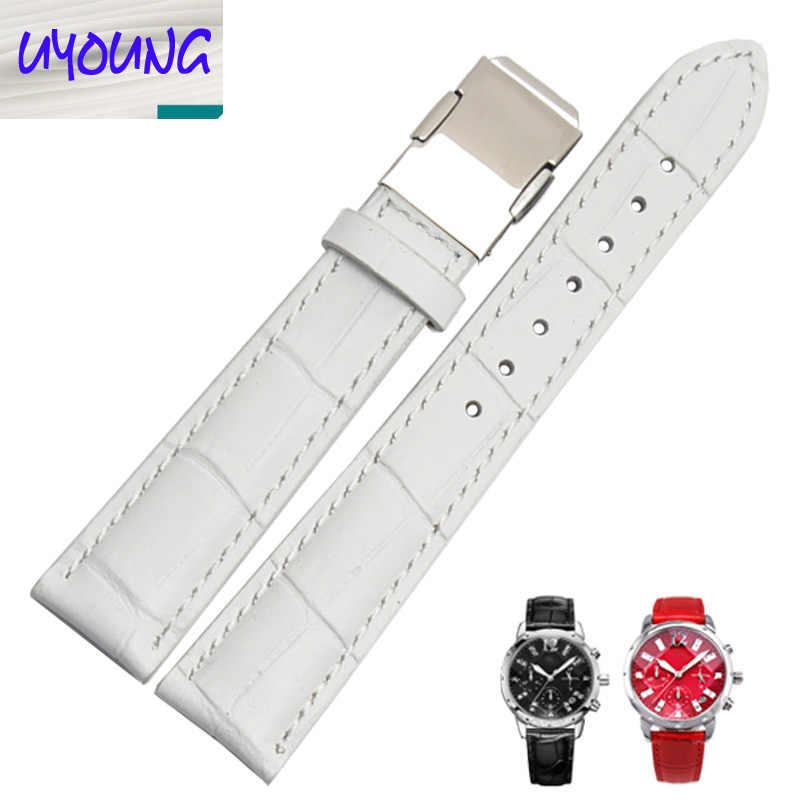 UYOUNG Toepassing van CASO 5010L | 5011L | 5012 | 5013L | 5020L 18 MM Wit Lederen Horlogeband