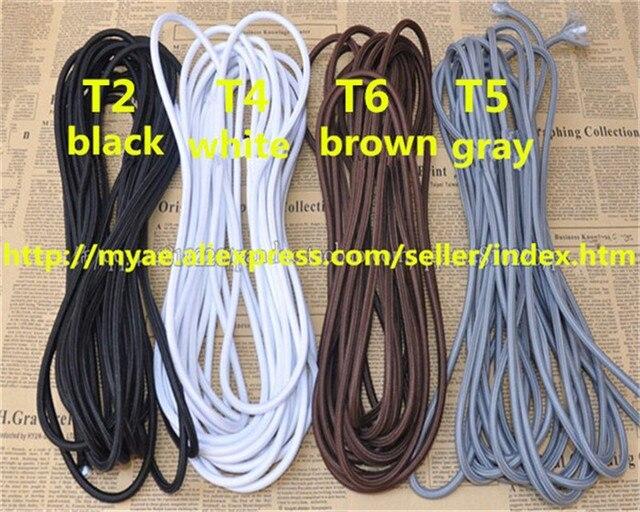20 mt/viel eter schwarz und weiß 2 core 0.75mm2 textil Elektrischen ...