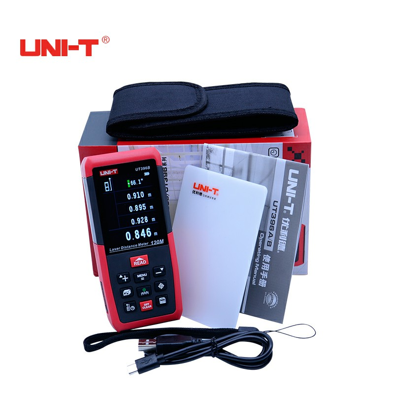 Professional Laser Distance Meters UNI-T UT396B 120M Laser Range finder Digital range finder Measure Area/volume Tool professional laser distance meters uni t ut395b 70m laser range finder digital range finder measure area volume tool