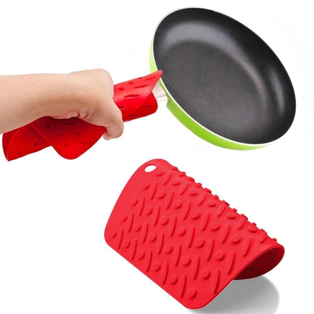 Cocina Resistente Al Calor Silicona Salvamanteles pan caliente Olla Titular Antideslizante O Tarro abridor