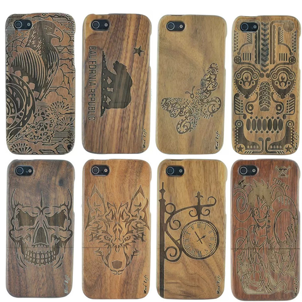 YRFF wooden phone case for iphone 6 6s plus 5 5s animal