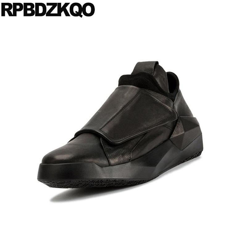 Nuevo Calidad Sole Plataforma Moda Los Zapatos Estilo Negro Pista Lujo Vaca China Genuino Alta blanco Negro Cuero Británico black Italia Marca Hombres De White Enredaderas CpxwH07gqx