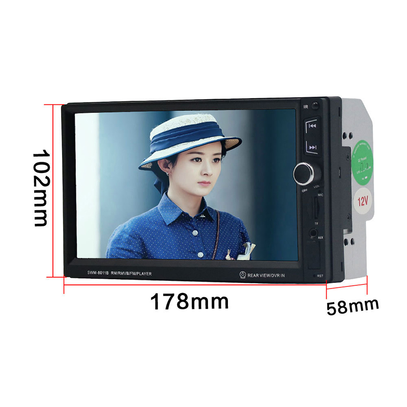 2018 Auto 7 Inch LED High Definition Display Car MP5 Bluetooth Hands free Car Audio and Video Player MP4 Player Card Radio