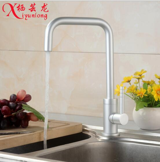 European retro classic wholesale manufacturer new space aluminum kitchen faucet single cold water tap little elbow