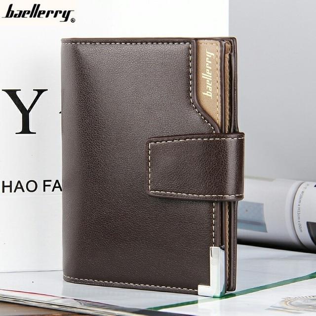 a02d35432a96 Baellerry Brand Wallet Men Leather Men Wallets Purse Short Male Clutch  Leather Wallet Mens Money Bag Quality Guarantee