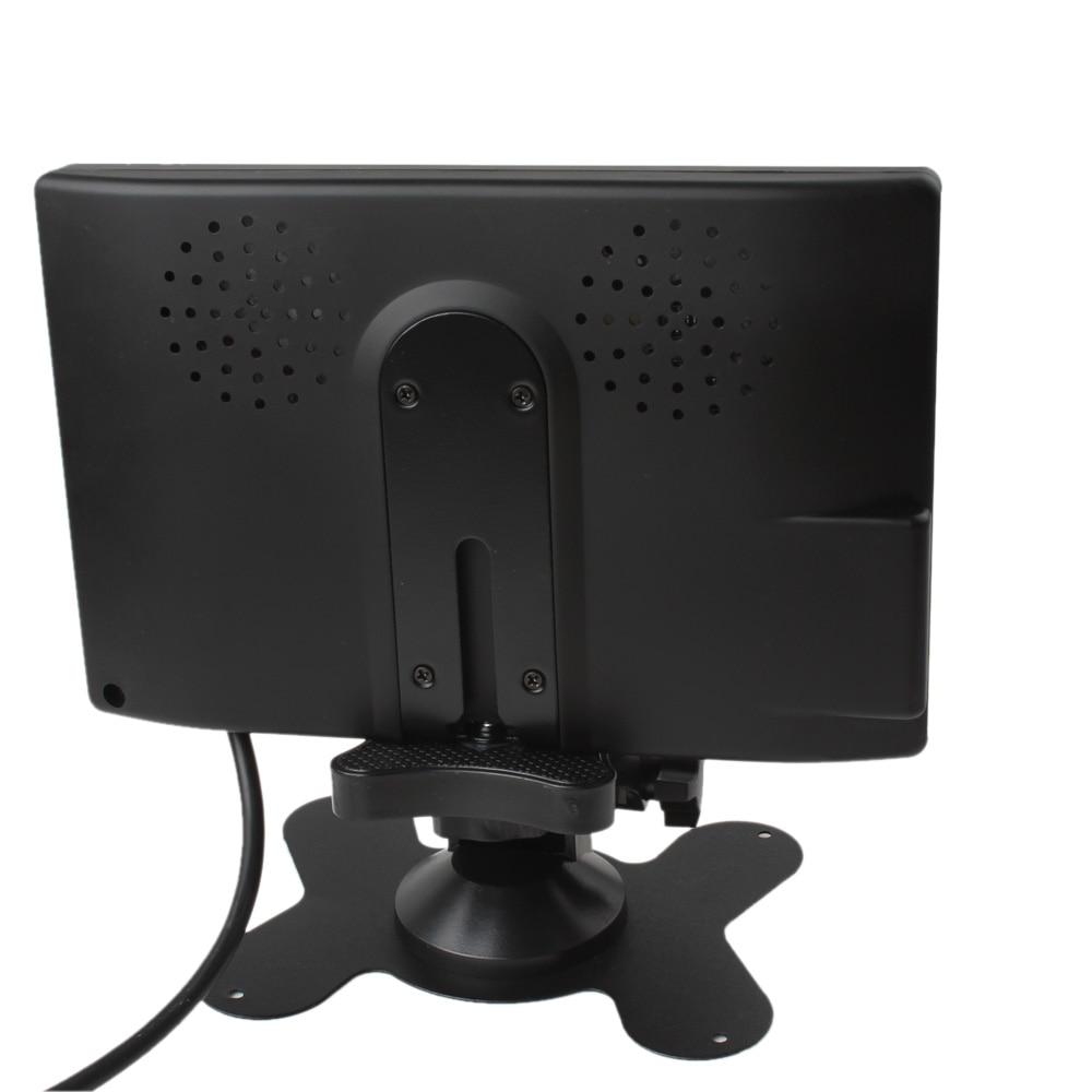 Semoic 12V-24V 7 Pulgadas TFT LCD Color HD Monitor para C/áMara CCTV Inversa de Visi/óN Trasera de Coche