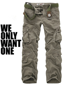 Image 5 - Mens Multi Pocket Casual Camouflage Pants Men Military Cargo Pants Washed Trouers Loose Pants For Men New Arrival