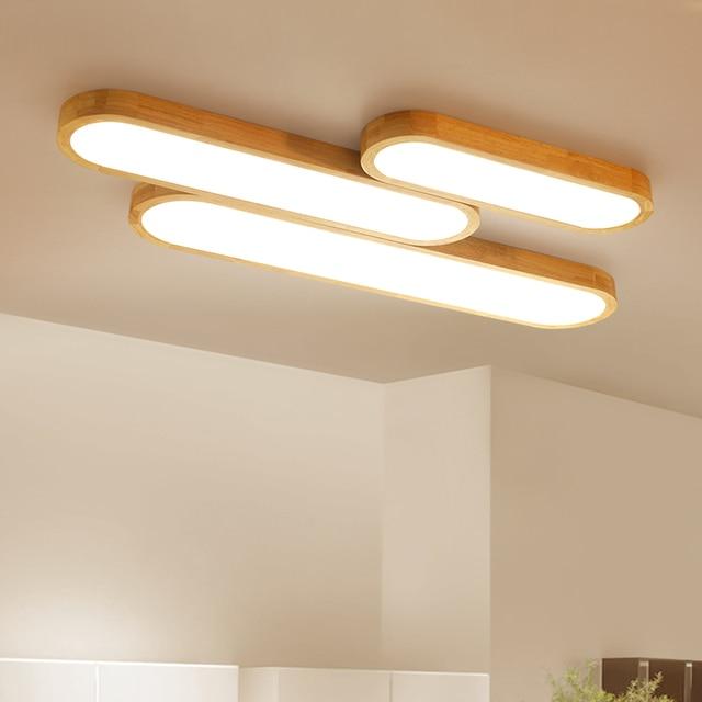 Moderne Led Deckenleuchten Holz Wohnzimmer Schlafzimmer Lamparas De Techo Colgante Hause Dekorativen Deckenleuchte