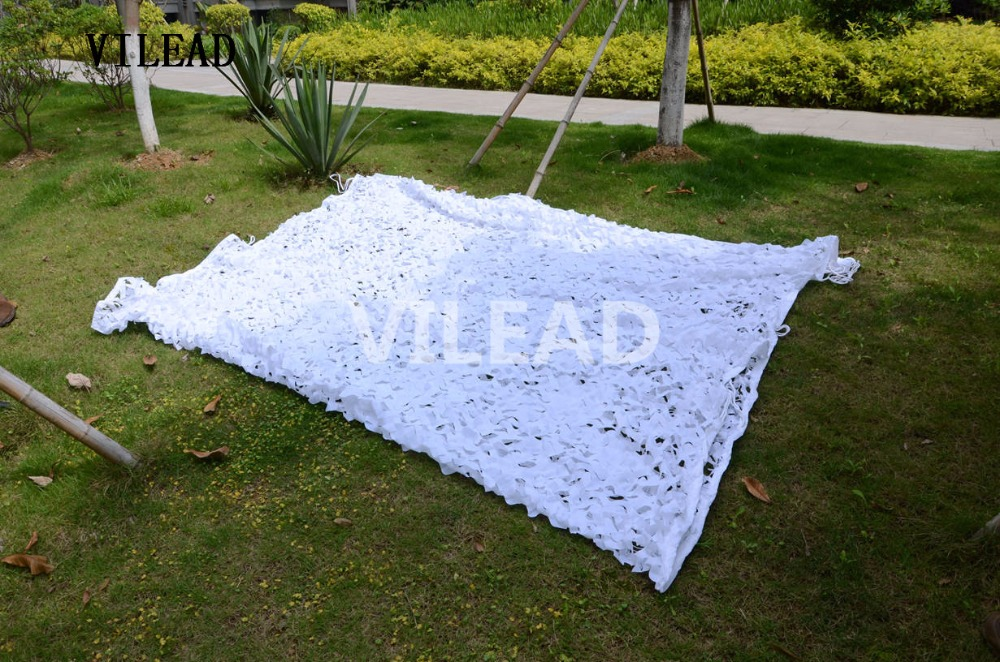 VILEAD 3.5M x 8M (11.5FT x 26FT) Snow White Digital Camouflage Net Military Army Camo Netting Sun Shelter for Hunting Camping vilead 5m x 8m 16 5ft x 26ft desert military army camouflage net digital camo netting jungle sun shelter for hunting camping