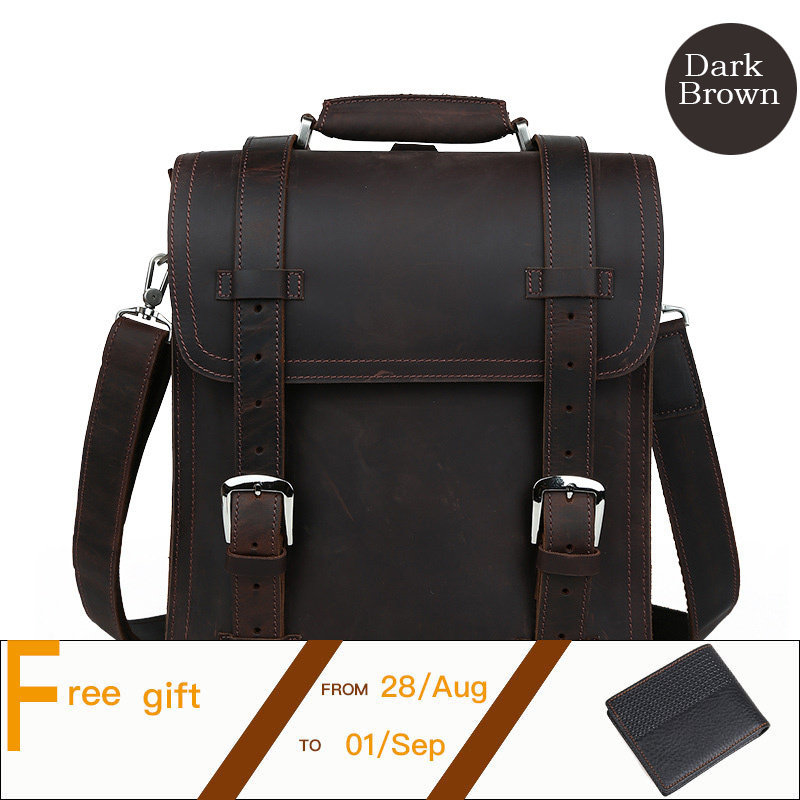 Vintage Trendy Natural Leather Men Backpack Daily Business Bag Schoolbag Fit For 14 Inch Laptop Bookbag Mochila PR091111 segal business writing using word processing ibm wordstar edition pr only