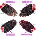 14''12Roots Ombre Braiding Hair Kanekalon Crochet Senegalese Twist Hair 85g/pack Havana Mambo Twist Crochet Braid Hair Extension