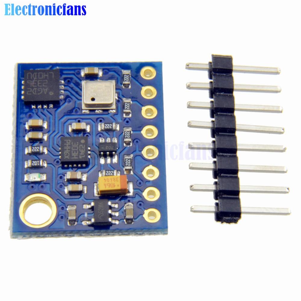 GY-89 10DOF I2C/IIC SPI L3GD20 LSM303D BMP180 Gyro Accelerometer Magnetometer Barometer Sensor Board Module GY89 For ArduinoGY-89 10DOF I2C/IIC SPI L3GD20 LSM303D BMP180 Gyro Accelerometer Magnetometer Barometer Sensor Board Module GY89 For Arduino