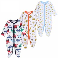 3Pcs Lot Newborn Baby Rompers Long Sleeve Boys Girls Baby Clothes Rompers Baby Infant Jumpsuit Baby
