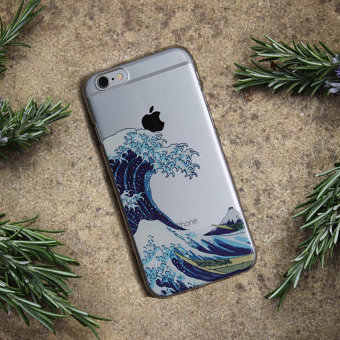 The Great Wave off Kanagawa Soft TPU Phone Case Cover For iPhone 7Plus 7 6 6S 5 5S SE XS Max Samsung Galaxy S7 S8 S9 Plu