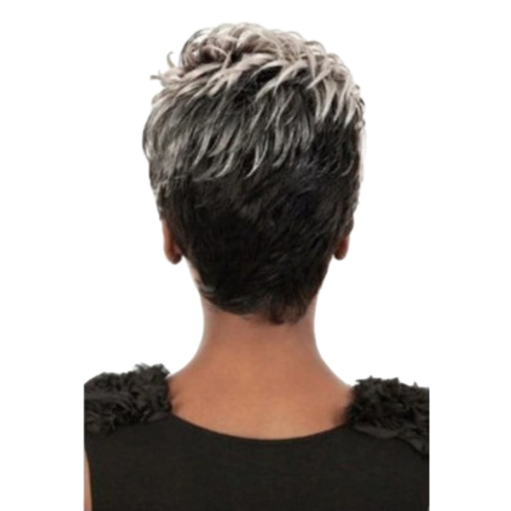 New Women Natural Light Gray Straight Short Hair Wigs Short Women's Fashion Wig Heat Resistant Wig Full Head Gift Dropshipping