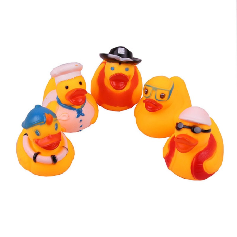 2019 Summer Baby Shower PlayToy Small Yellow Duck Inflatable Swimming Pool Accessories