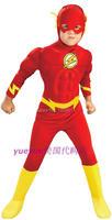 The Flash Muscle Kids DC Comic Superhero Fancy Dress Fantasia Halloween Costumes Disfraces For Child Boy