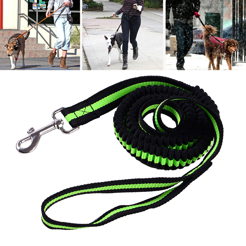 Pet Dog Leash Rope With Reflective Dog Running Leashes Hands Freely For Walking Pet Jogging Pet Stretch Traction Rope Leashes