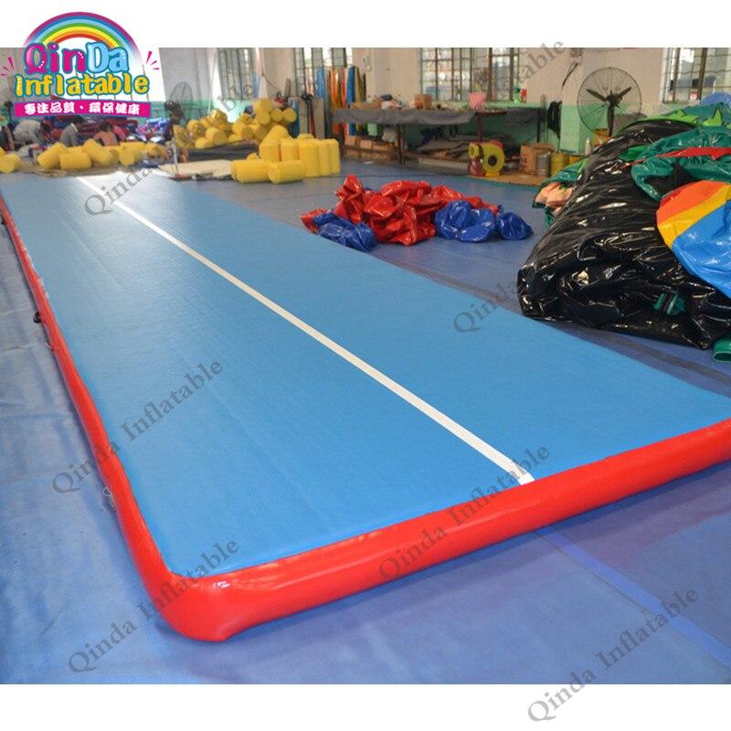 Фитнес Бодибилдинг надувные гимнастические коврики оборудование для спортзала коврики для йоги надувные посадочные коврики трек для прод