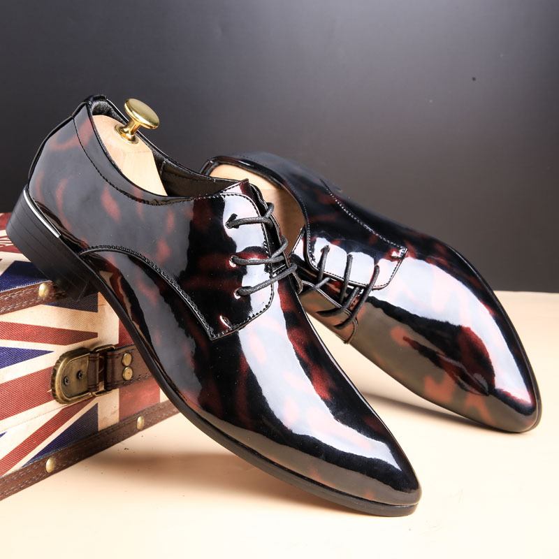 Men Formal Shoes Pointed Toe Business Wedding Patent Leather Oxford Shoes For Men Dress Shoes Plus Size 49 50 bimuduiyu patent leather oxford shoes for men loafers dress shoes formal shoes pointed toe business fashion groom wedding shoes