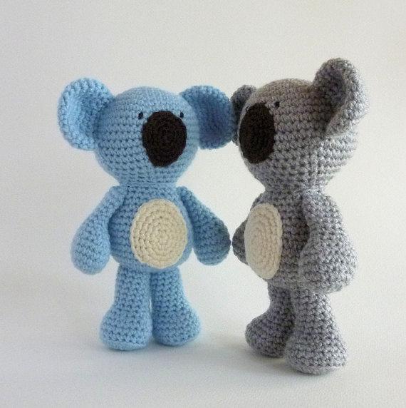 Amigurumi Koala, Australian Animal Toy, Crochet Koala, Crochet Animal, Koala Bear, Stuffed Anima rattle, amigurumi crochet doll pretty girl xingxing rattle toy