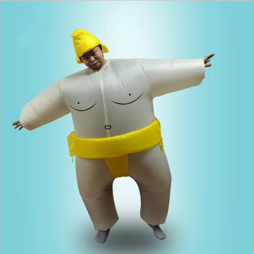 Adults Kids Inflatable Sumo Suits Wrestler Costume Outfits for Men Women Children Fat Man Airblown Sumo Run Cosplay Halloween