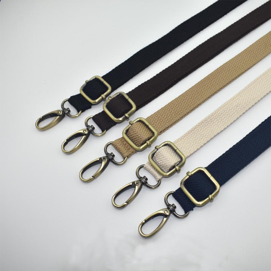 120cm Adjustable Bag Strap Parts Universal Cotton Replacement Bronze Buckle for Laptop Case Shoulder Crossbody Camera Travel Bag