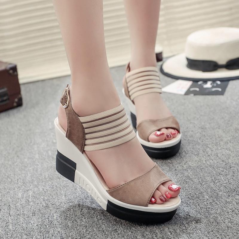 Women Wedges Sandals 2019 Summer Platform Shoes Woman Leisure Style High Heels Open Toe Comfortable Female Footwear SH030506