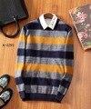 2016 известный бренд дизайн кашемировый свитер мужчин моды случайные DS011