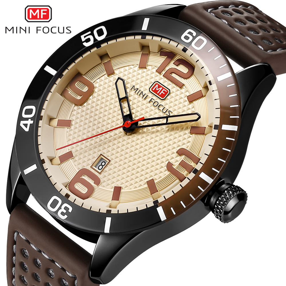Brand Luxury Men Sports Watches Quartz Date Analog Clock Male Leather Band Army Military Men Watch MINI FOCUS Relogio Masculino watch men relogio masculino top brand luxury military army retro design business pu leather band analog quartz clock