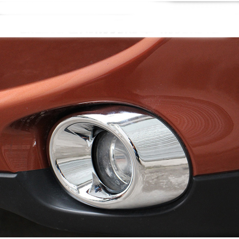 For Mitsubishi Outlander 2013 2014 2015 Chrome Front Fog Light Lamp Cover Trim