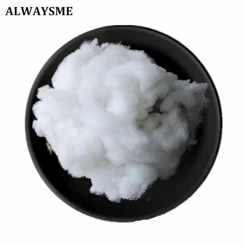 ALWAYSME 100 g/saco Algodão Poliéster Material de Enchimento de Algodão PP Recheio Boneca DIY Brinquedos Sofá Cama Travesseiro Almofada de Enchimento Não Tecido