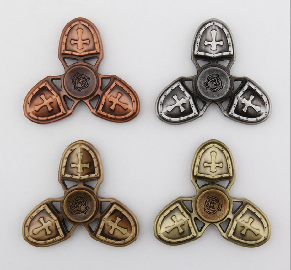 Crusade Metal Fidget Finger Spinner Toys Sensory Autism ADHD Anti Stress Relief Spining Top Funny EDC Rotation Long Time