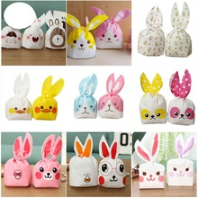 Wholesale lot 10PCS Cute Rabbit Ear Cookie Bags Gift For Candy Biscuits Snack Baking Package Event Party Supplies