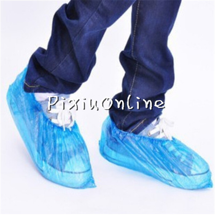 100 Pcs Disposable Shoe Covers LX4 Carpet Cleaning Overshoe Waterproof Coverings Guests Family Free Shipping Russia