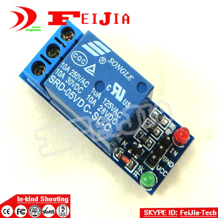 5PCS 1 channel relay module 5V Relay Module 1 Channel Low level for SCM Household Appliance Control For Ard uino ...