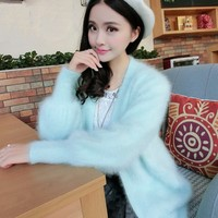 New pure mink cashmere sweater women 100% mink cashmere cardigans sweater wholesale retail big size Free shipping S242