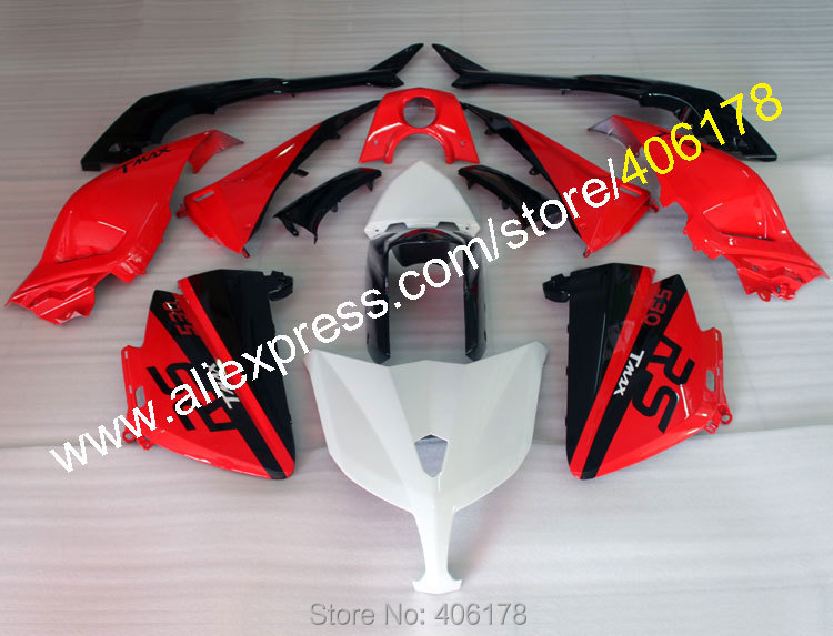Hot Sales,For Yamaha TMAX530 Fairing 2012-2014 T-MAX 530 12-14 TMAX 530 Red Black White Motorcycle fairings (Injection molding) hot sales for yamaha tmax530 parts 2012 2014 tmax 530 12 14 tmax 530 motorcycle body aftermarket kit fairing injection molding