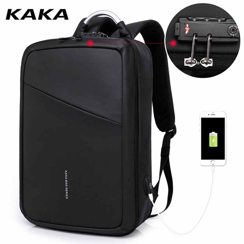 f915590c0d71 KAKA Professional Anti-theft Women Men Business Laptop Backpack for  15.6inch Computer Backpacks Fashion