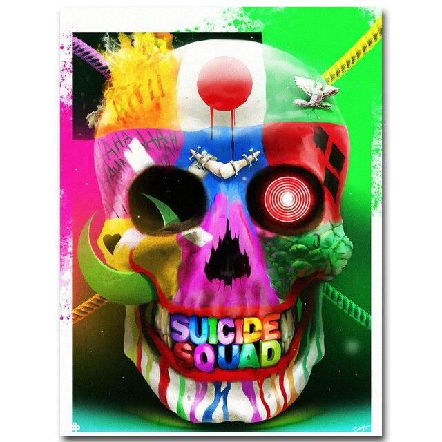 Suicide Squad Character Symbol Superhero Art Silk Poster Print 13x20