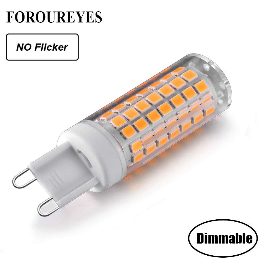 Dimmable No Flicker G9 LED BULB AC220V 120V 88LEDS 2835 LED Light Lamp 690LM Chandelier Light Replace 70W Halogen Lighting