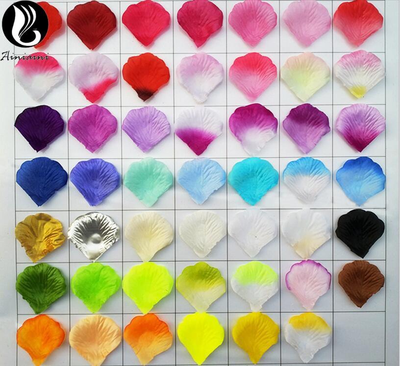 100Pcs/Pack 5*5cm Artificial Flowers Petals For Wedding Accessories Wedding Petals Petalos De Rosa De Boda BV268