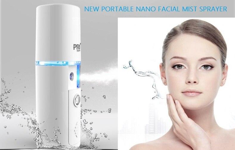 New oisturizing Hydrating Nano Ion Cold Spray Humidifier Portable Face Beauty Instrument Portable Travel Sauna Spa Sprayer Skin