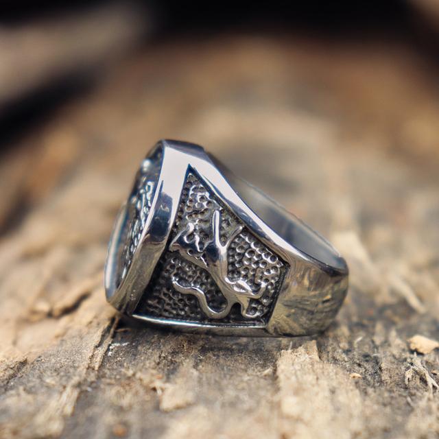 Stark direwolf signet ring