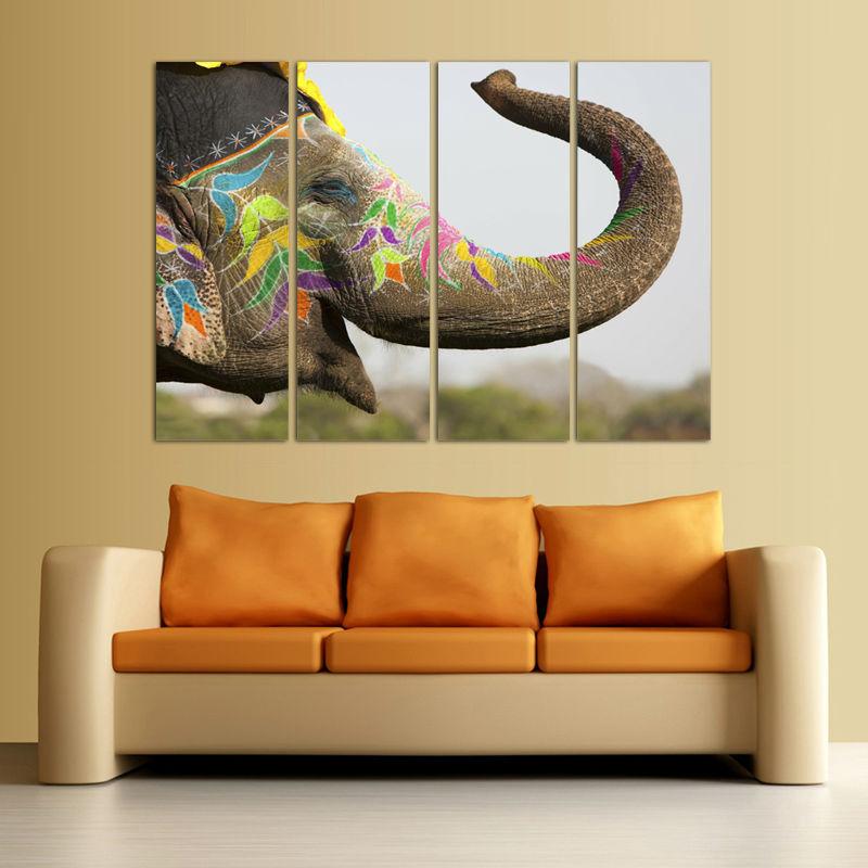 paneles hd pintura de la lona del elefante animal print pintura moderna casa decoracin de