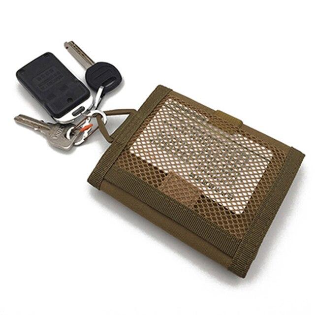 Outdoor multi-function tactical wallet key bag Waterproof Sports Purse Molle Card Pocket Key Hanging Bag