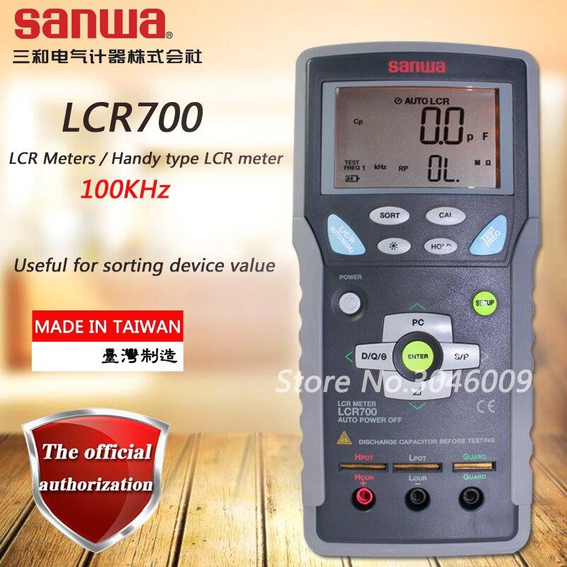 Sanwa LCR700 LCR Mètres/100 KHz type Handy LCR mètre; Inductance/résistance/capacité test mètre
