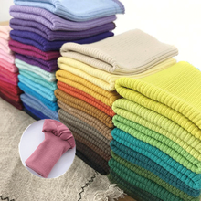 Stretchy Cotton Knitted Rib Fabric Cuff Fabric For DIY Down Jacket Hoodie Webbing Knitted Elastic Lace cheap Embroidered Organza W18052601 Eco-Friendly Spandex Polyester